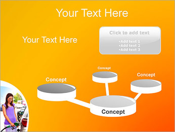 Femme à la station essence Modèles des présentations  PowerPoint - Diapositives 9