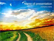 Route Dans Le Domaine Modèles des présentations  PowerPoint