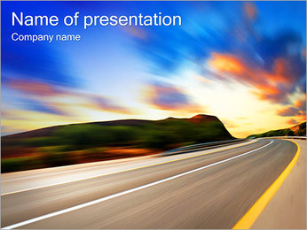 High Way Sjablonen PowerPoint presentatie