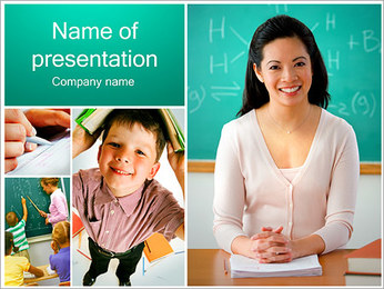 Lección En La Escuela Plantillas de Presentaciones PowerPoint