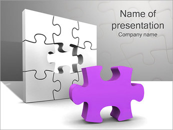 Lilac Puzzle PowerPoint Template