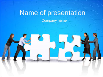 Team Work Puzzle PowerPoint šablony