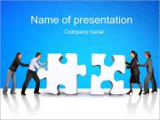 Team Work Puzzle Sjablonen PowerPoint presentaties