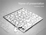 Huge Grey Puzzle PowerPoint Templates