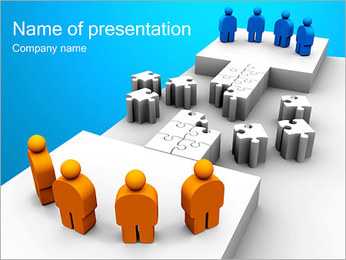 Two Team Puzzle PowerPoint Template