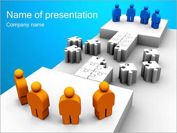 Dos equipos Puzzle Plantillas de Presentaciones PowerPoint - Diapositiva 1