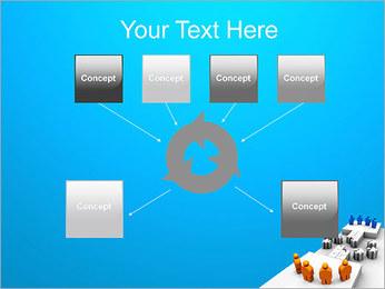 Dos equipos Puzzle Plantillas de Presentaciones PowerPoint - Diapositiva 10