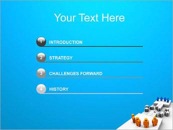 Dos equipos Puzzle Plantillas de Presentaciones PowerPoint - Diapositiva 3