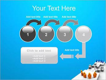 Dos equipos Puzzle Plantillas de Presentaciones PowerPoint - Diapositiva 4