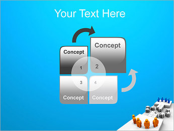 Dos equipos Puzzle Plantillas de Presentaciones PowerPoint - Diapositiva 5