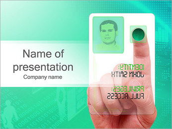 ID Touch Screen PowerPoint Template