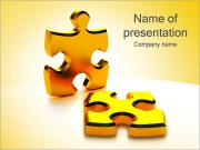 Golden Puzzle Game PowerPoint Templates