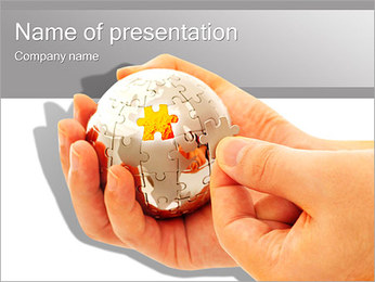 Sphere Puzzle PowerPoint Template - Slide 1