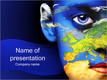 Womans Face And Earth PowerPoint Template