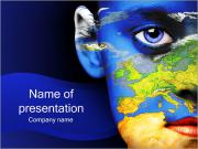 Womans Face And Earth PowerPoint Templates
