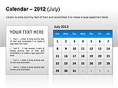 2012 Calendar PPT Diagrams & Charts - Slide 15