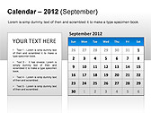 2012 Calendar PPT Diagrams & Charts - Slide 17