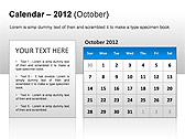 2012 Calendar PPT Diagrams & Charts - Slide 18