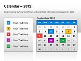 2012 Calendar PPT Diagrams & Charts - Slide 2