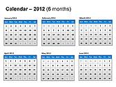 2012 Calendar PPT Diagrams & Charts - Slide 21