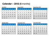 2012 Calendar PPT Diagrams & Charts - Slide 22