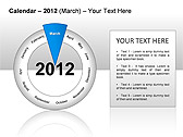 2012 Calendar PPT Diagrams & Charts - Slide 24