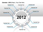2012 Calendar PPT Diagrams & Charts - Slide 25