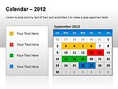 2012 Calendar PPT Diagrams & Charts - Slide 3