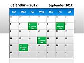 2012 Calendar PPT Diagrams & Charts - Slide 4