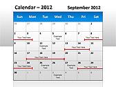 2012 Calendar PPT Diagrams & Charts - Slide 5