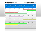 2012 Calendar PPT Diagrams & Charts - Slide 6