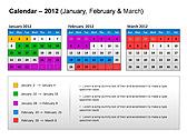 2012 Calendar PPT Diagrams & Charts - Slide 7