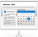 2013 Calendar PPT Diagrams & Chart
