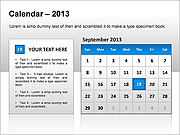 2013 Calendar PPT Diagrams & Chart