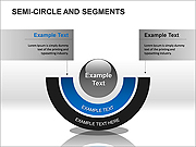 Semi-Circle and Segments PPT Diagrams & Chart