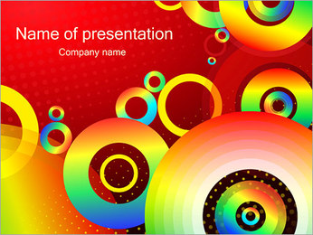 Rainbow Abstraction PowerPoint Template
