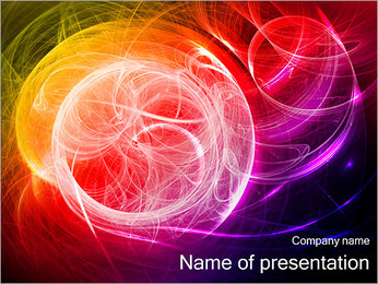Polar Lights Abstraction PowerPoint Template