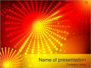 Abstract Orange Dots PowerPoint Templates