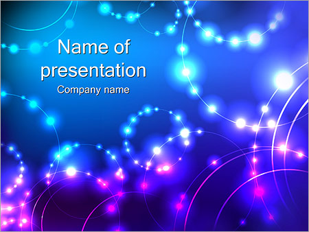 constellation of stars powerpoint template & backgrounds id, Modern powerpoint