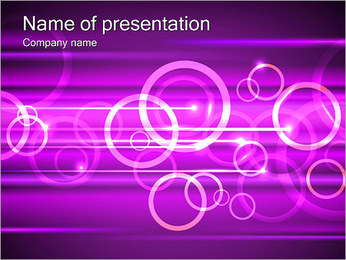 Lilac Abstraction PowerPoint Template