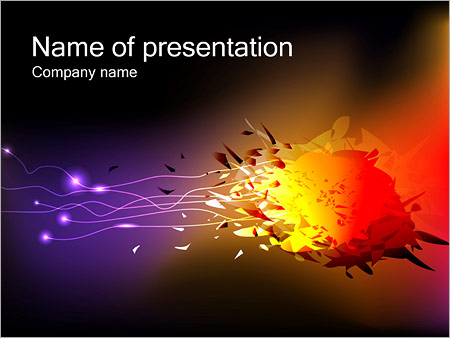 Explosion powerpoint template backgrounds id 0000002975 explosion powerpoint templates toneelgroepblik Images