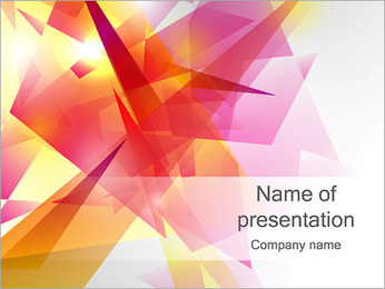 Figura de la abstracción Plantillas de Presentaciones PowerPoint