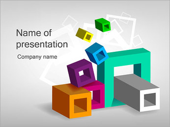 Squares and Rectangles PowerPoint Template