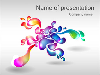 Abstract Flower PowerPoint Template