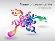 Abstract Flower PowerPoint Templates
