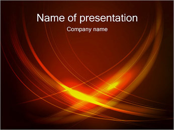Flame Abstraction PowerPoint Template
