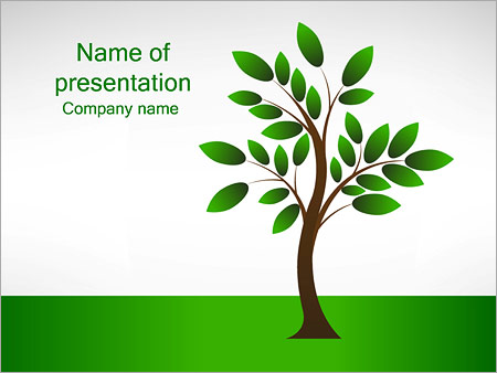 New Tree Powerpoint Template Backgrounds Google Slides Id