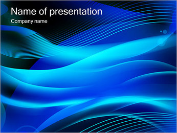 Light Waves PowerPoint Template