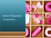 Pink Sewing Assortment PowerPoint Templates