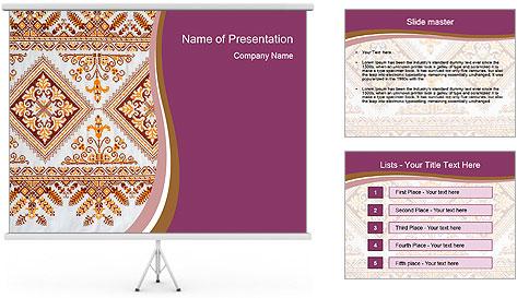 Шаблоны для презентации с украинским орнаментом